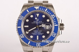 replica blue rolex submariner