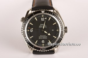 Black Omega Seamaster replica watch