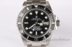 fake Black Rolex Submariner dial