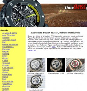 Replica Watches - Time SWISS Shop