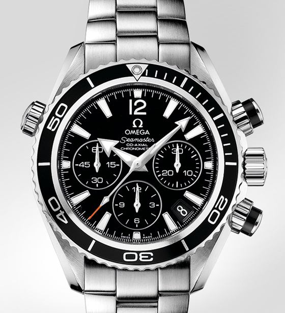 Genuine Black Omega Planet Ocean Chronograph