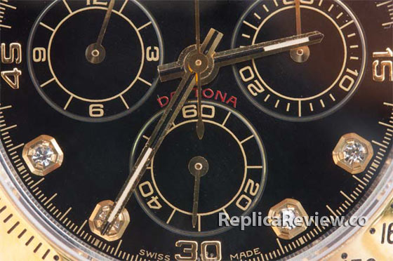 chronograph sub-dials and hands on fake Rolex