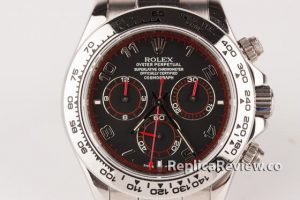 Fake Rolex Daytona stainless steel and black dial