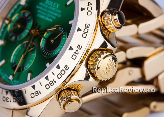 fake gold daytona bezel engravings