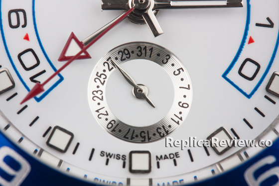 wrong color sub-dial on fake rolex