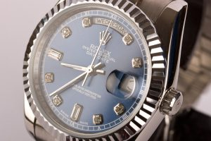 Blue dial Replica Day Date Watch