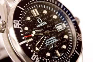 Black Omega 007 replica watch