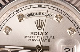 Silver Daydate Rolex Replica watch Comparison