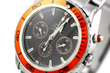 Orange bezel Omega Seamaster Replica