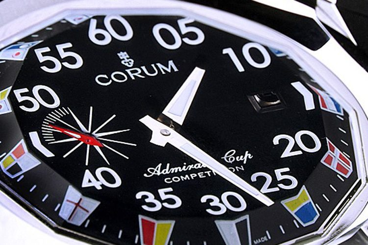 Black Dial Corum Admirals Cup Competition replica watch