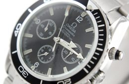 Black Dial Replica Planet Ocean Chronograph Watch