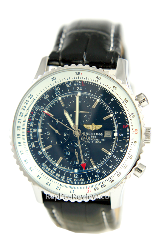 Black Dial of Fake Breitling Watch