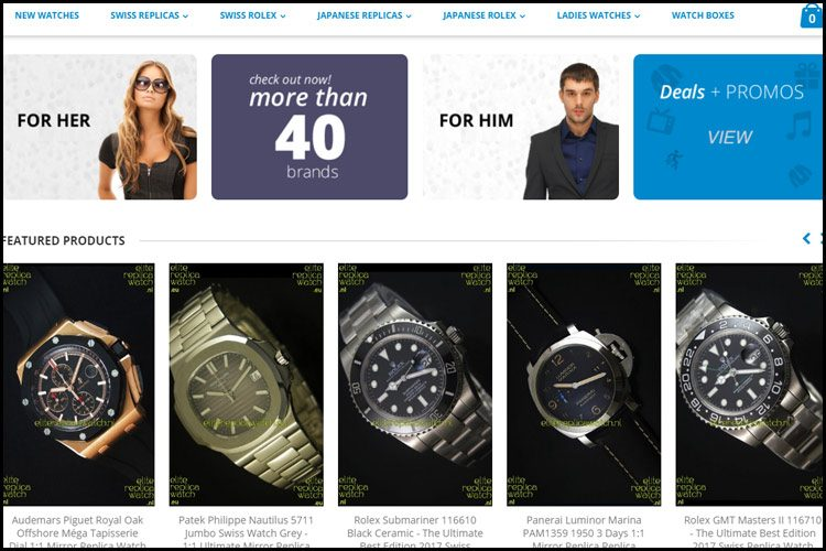 Elitereplicawatch store homepage