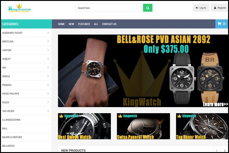 Kingwatchtd.com store homepage