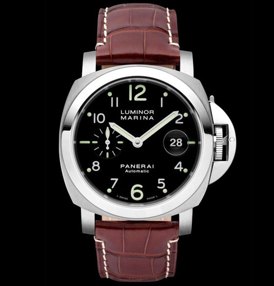 Black dial panerai marina watch