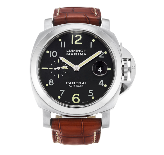black dial and brown leather band panerai replica