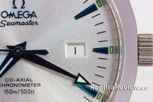 Date Aperture of a Omega imitation Watch