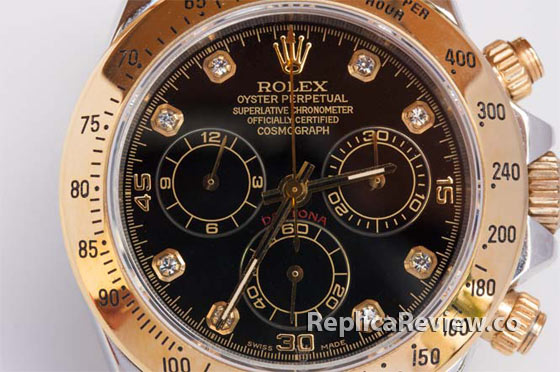 rolex daytona dial close-up