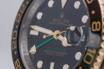 black dial, black bezel rolex GMT replica watch