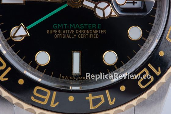 laster etched crown on replica Rolex crystal
