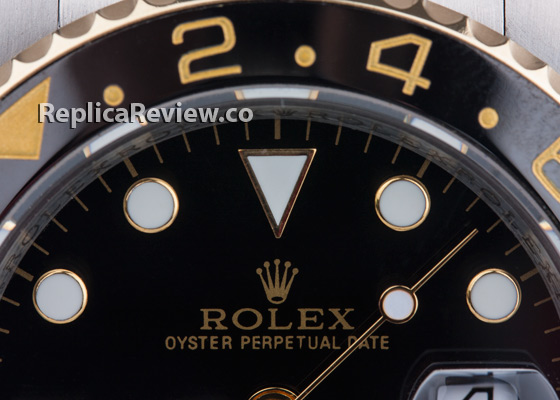 Fake Rolex Logo on GMT Master watch dial