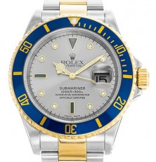 Submariner 16613 Silver Serti Replica