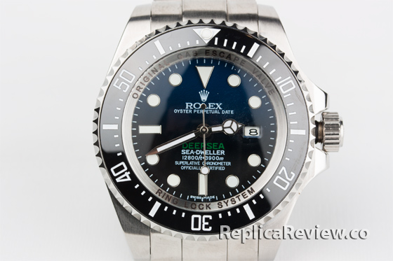 black Rolex replica deepsea watch