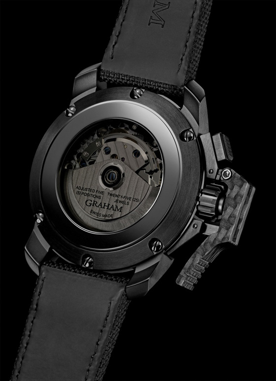 back case cover of Graham Chronofighter watch