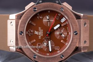brown dial and strap hblot big bang replica watch