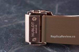 rubber strap and hublot clasp