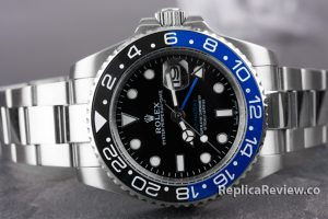 black dial of GMT Master Rolex Imitation watch